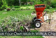 How to get or make your own Wood Chip Mulch - Steps / Get your Wood Chips from Arborists ok make your own wood chip mulch using a Wood Chipper Shredder.