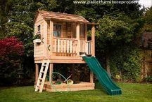 Pallet kids house