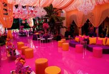 Wedding decor with drapes