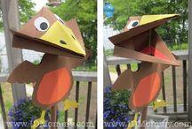 ptáci/birds crafts and printables for preschooler