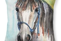 Horse and Equestrian Gift Ideas / Gifts for your horse loving friends and equestrians in your life. Includes horse prints, canvas, pillows, phone covers, towels, tote bags, phone chargers, notecards. Most are available in several different horse styles.