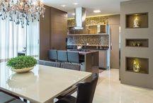cozinha e sala da jantar