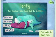 Jonty - The Dinosaur Who Could Not Go to Sleep - App Images / Jonty - The Dinosaur Who Could Not Go to Sleep is a bedtime story for children learning to read. Beautifully illustrated, the story stars Jonty, a young dinosaur who has trouble getting to sleep when he goes to bed.      Jonty - The Dinosaur Who Could Not Go to Sleep is available as an interactive storybook app on the App Store℠ and also as an ebook on the Kindle Store and the iBookstore℠.