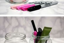 Make-up, DIY holders