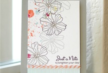 Cards - Coloring Outline Flowers / Fifth Avenue Floral; Growing Green