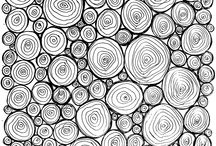 zen tangles , doodle designs, mandalas