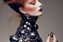 Mood Board for Futuristic Fashion Makeup