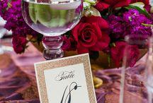 River Oaks Garden Club Wedding / Plum, Gold and Magenta