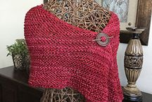 Knitted shawls, cowls, gloves, etc.