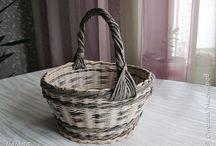 papírové pletení / pletení z papíru