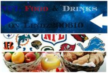 NFL Food & Drinks / This board will have all kinds of food & Drinks that is related to NFL #BzzBites #BiteSizedBzz