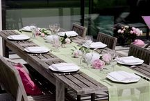 Le linge de Maison de Christine Sarazin / Des nappes, des sets, des chemins de table avec une large palette de couleurs.