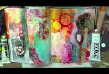 Art Journal Tutorials, Video's, Projects and How-To's / I love seeing beautiful art journals and would love to create one, or two, or three.......  It's on my bucket list.  When I do I'm hoping some of the tutorials, video's and how-to's will be helpful.