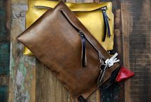 clutch leather bag / clutch bag, leather handbag,  monabags.it