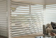 AWF | Pirouette Window Shadings by Hunter Douglas / Our Pirouette® shadings feature soft fabric vanes attached to a sheer backing that appear to be floating, drawing natural light into your room. When closed, they look just like a contemporary shade.