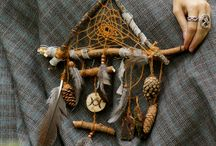 Dreamcatcher and Pagan wreath