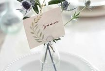 // Place cards // Wedding //