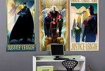 DC Comics / Live in the DC Universe with these Wall-Ah! decals!