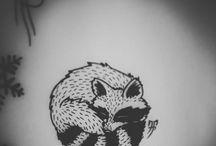 Raccoon tattoo ideas
