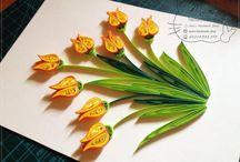 Tulipan- qulling