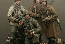World War 2 US, British Soldiers 1/35 Scale