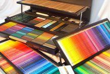 materiales para dibujar y pintar