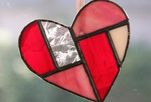 DIY - Crafts Stained Glass-Heart