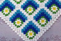 Granny square, afghan croche, zigzag