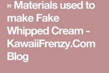 Mini Tutes Cream etc / Tutorials specific to making Creams Icings Glazes for miniature bakery items