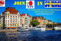 Let's drink DXN coffee in Sweden! DXN Ganoderma Reishi Lingzhi medicinal mushroom on Swedish market!