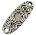 Lincuri argint tibetan 26mm - 1 buc