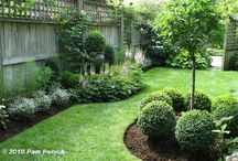 Landscape-Fence Lines & Flowerbeds Ideas / Fence design's & fence line flower bed idea's. / by Linda Finni