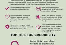 "Writing: Villains / ""No matter what start writing."""