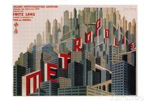 Week 1 - Metropolis - Adobe Photoshop / Examples of Jerry Uelsmann, Metropolis posters, Giovanni Fontana (Castle of Shadows), Gothic Architecture, Film Noir, Martin Copertari