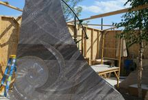 The Sculpture Project: Passage of Wind and Water / In 2013, Masayuki Nagase began the process of carving the 21 granite pieces at Main Street Square. This privately funded $2 million project will reflect the region's natural and cultural past, present, and future.