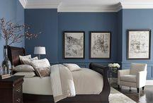 Blue walls room ideas