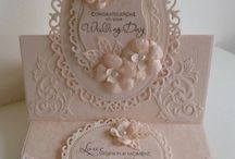 Oval lace die cards