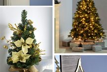 Cream & Gold Theme 2017 / Give your home a touch of opulence this year with our classic cream & gold theme. This range features colour co-ordinating table decorations, a wreath and garland and elegant pearl, champagne and gold tree decorations.