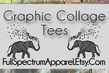 Graphic Collage Tees and Tanks