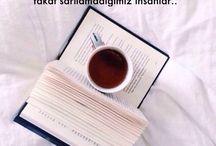 kitaplar ve kahve ve çay ve müzik