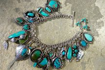 Vintage Bracelets / Vintage bracelets, including Native American jewelry, Taxco sterling silver and turquoise cuffs.