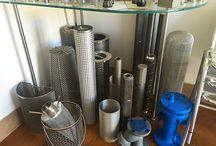 Campioni di cartucce per filtri / Alcuni campioni di cestelli esposti nel nostro stabilimento