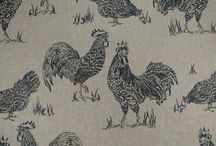 Kitchen curtains chickens
