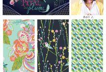 PETAL & PLUME BY BARI J. FOR ART GALLERY FABRICS / PETAL & PLUME BY BARI J. FOR ART GALLERY FABRICS / by Bari J. Designs