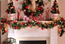 Christmas Mantels / Display ideas for decorating your mantel for Christmas.