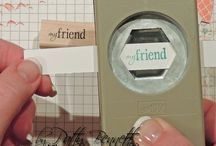 Labels made with punches