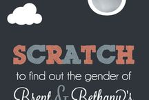 Baby Scratch Offs_Gender Reveal_Invitations_Party Ideas / by Jessica Lucken