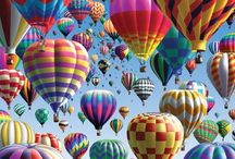~Let's fly with Hot Air Ballοons~ / Pin as many pins as you want depicting hot air balloons...Keep to the theme please.Have fun!:).