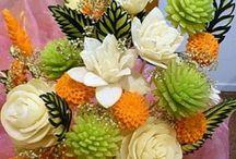 Esculturas em frutas