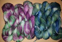 handgefärbte Wolle aus meiner Facebook Gruppe Anjas-Wollzauber